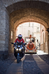 Papier Peint - biker in sardinia. porto torres
