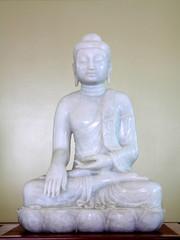 White sitting Budha image