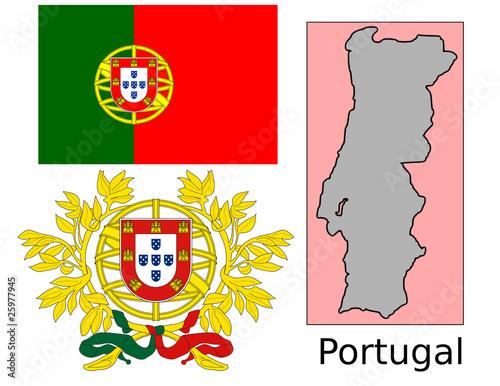 Portugal Flag National Emblem Map Stock Image And Royaltyfree - Portugal map flag
