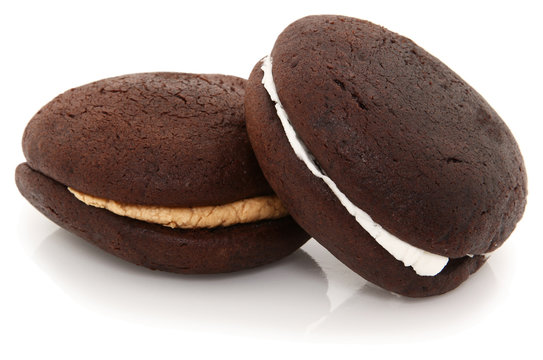 Whoopie Pies On White Background