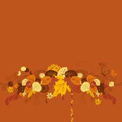 creative autumn background - seasonal illustration