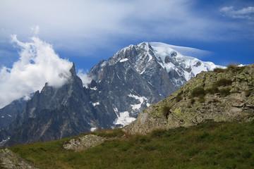 Monte Bianco dal rifugio Bertone