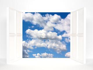Open doors and sky