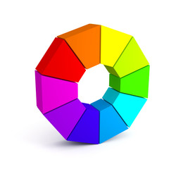 Color palette over white background