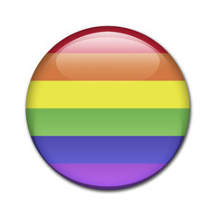 Boton brillante bandera arcoiris