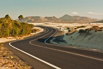 Winding Road in Desert