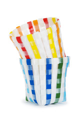 Colorful basket isolated on the white background