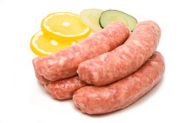 Rohe fränkische Bratwurst
