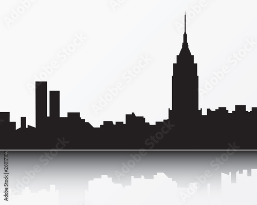 New York City Skyline Light Blue Silhouette Stock Image And Royalty Free Vector Files On Fotolia Pic 26017108