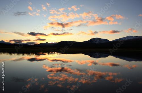Fotomurales Lake sunset