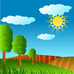 nice weather rural illustration