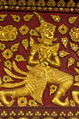 native thai style on church in thai temple