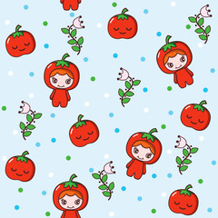 Fruit and Kid Pattern 3