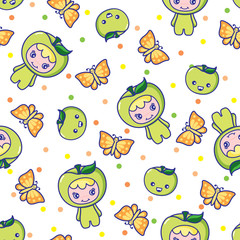 Fruit and Kid Pattern 8