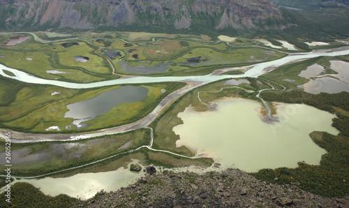 Fotomurales Green Arctic delta