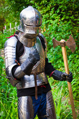 Spoed Fotobehang Ridders knight in shining armor