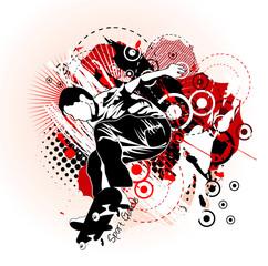 skater grunge vector illustration
