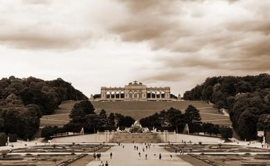 Gloriette in a Schoenbrunn Palace park, Vienna, Austria.
