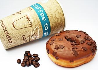 Coffee to go mit Donut