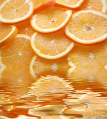 Spoed Foto op Canvas Plakjes fruit orange