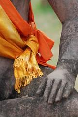 statue de Bouddha, detail
