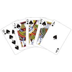 royal flush spades classic playing cards