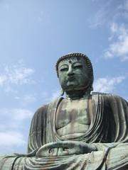 Big Buddha on the blue sky