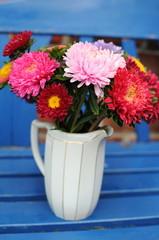 Astern in Blumenvase