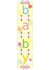 Decorative inscription for baby