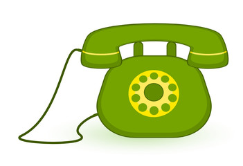 Vector illustration of cartoon telephone