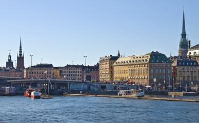 Skyline of the capital of Sweden, Stockholm