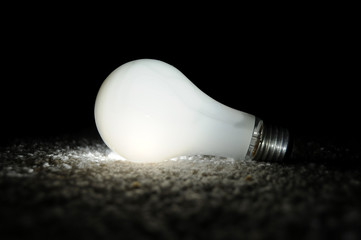 Unscrewed Glowing Light bulb