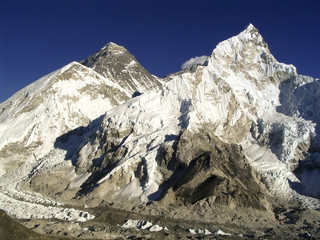 Wall Mural - Mt Everest (8850m) and Nuptse in the Himalaya, Nepal.