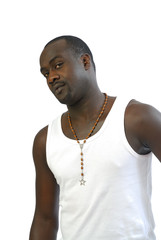 sénégalais en tee-shirt à bretelles blanc 3