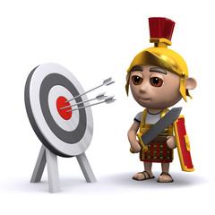Spoed Foto op Canvas Ridders 3d Roman soldier studies the target