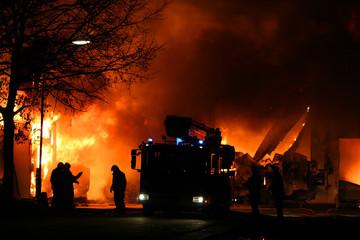 firemen at a fire