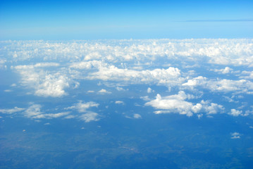 On Top of the Clouds over Greece