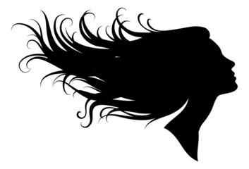 silhouette of a girl in profile