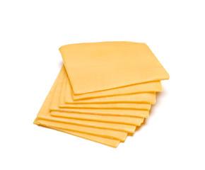 Rebanadas de queso cheddar.