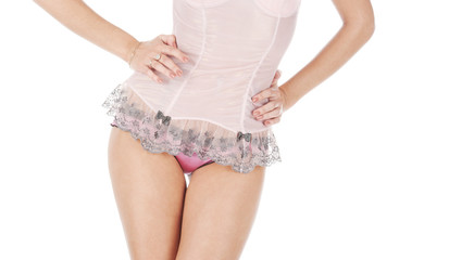 Close-up of underwear on clothed girl