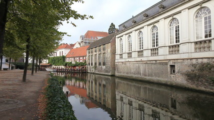 Wall Mural - Bruges canal view, Belgium