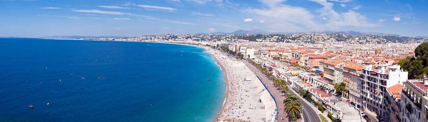 Tuinposter Nice Panorama Côte d'Azur - Nice et sa plage