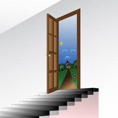 dream stairs, vector