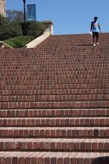 descente d'escalier de jogger