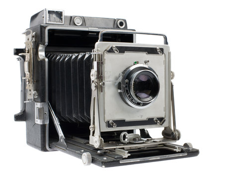 large format camera isolated on a pure white background