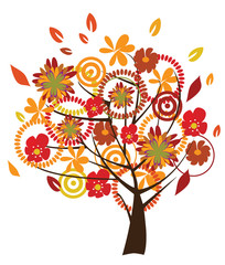 floral tree in fall