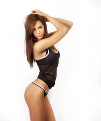 Beautiful young slim healthy fit woman