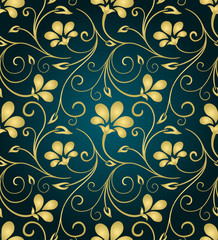 Golden floral pattern