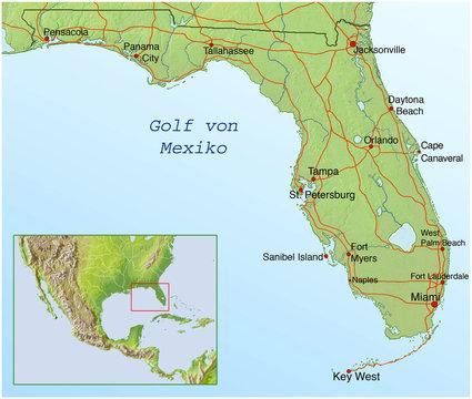 Landkarte von Florida