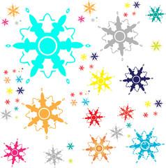Keuken foto achterwand Lieveheersbeestjes snow stars vector